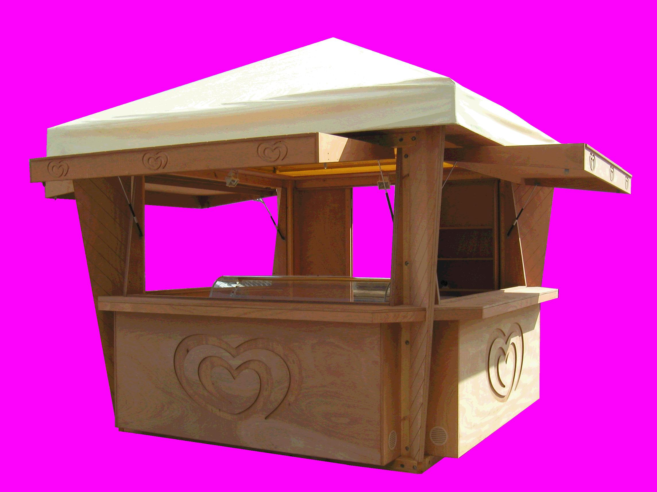 Chiosco in legno